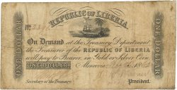 1 Dollar LIBERIA  1862 P.07b B