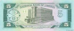 5 Dollars LIBERIA  1989 P.20 NEUF