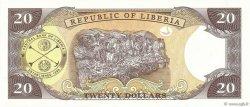 20 Dollars LIBERIA  1999 P.23a NEUF