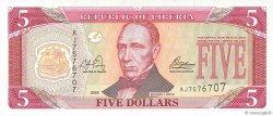 5 Dollars LIBERIA  2003 P.26a pr.NEUF