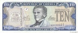 10 Dollars LIBERIA  2003 P.27a pr.NEUF