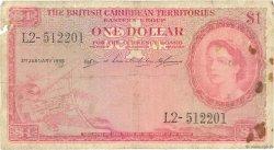 1 Dollar CARAÏBES  1955 P.07b pr.B