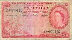 1 Dollar CARAÏBES  1962 P.07c B+