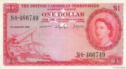 1 Dollar CARAÏBES  1963 P.07c TTB+
