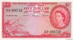 1 Dollar CARAÏBES  1963 P.07c SUP