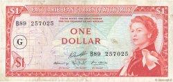 1 Dollar CARAÏBES  1965 P.13j TB