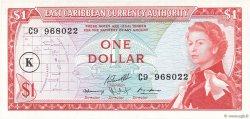 1 Dollar CARAÏBES  1965 P.13k NEUF