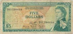 5 Dollars CARAÏBES  1965 P.14h B