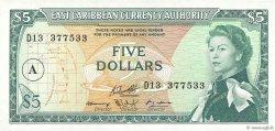 5 Dollars CARAÏBES  1965 P.14i NEUF