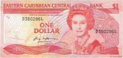 1 Dollar CARAÏBES  1985 P.17l TB