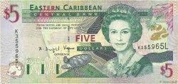 5 Dollars CARAÏBES  2000 P.37l B+