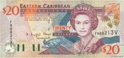20 Dollars CARAÏBES  2000 P.39v TB