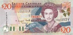 20 Dollars CARAÏBES  2000 P.39v TTB