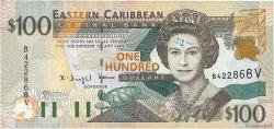 100 Dollars CARAÏBES  2000 P.41v TB