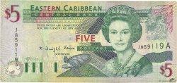 5 Dollars CARAÏBES  2003 P.42a TB