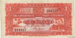1 Dollar MALAISIE - ÉTABLISSEMENTS DES DÉTROITS  1927 P.09a TTB