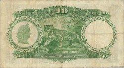 10 Dollars MALAISIE - ÉTABLISSEMENTS DES DÉTROITS  1935 P.18b TB