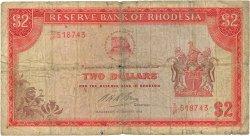 2 Dollars RHODÉSIE  1972 P.31f pr.B