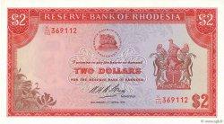 2 Dollars RHODÉSIE  1975 P.31k NEUF