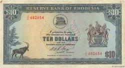 10 Dollars RHODÉSIE  1973 P.33f TB