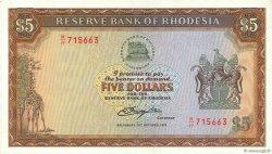 5 Dollars RHODÉSIE  1978 P.36b SPL
