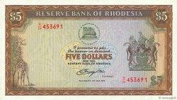 5 Dollars RHODÉSIE  1979 P.40a NEUF