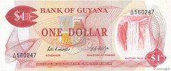 1 Dollar GUYANA  1966 P.21d SPL