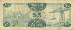 5 Dollars GUYANA  1966 P.22b TB+