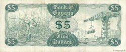 5 Dollars GUYANA  1966 P.22c TTB