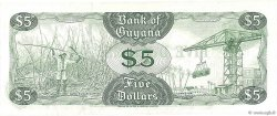 5 Dollars GUYANA  1992 P.22f pr.NEUF