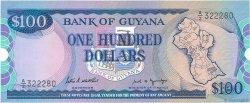 100 Dollars GUYANA  1989 P.28 SPL