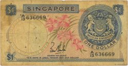1 Dollar SINGAPOUR  1967 P.01a B