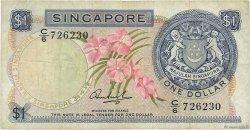 1 Dollar SINGAPOUR  1971 P.01c TB