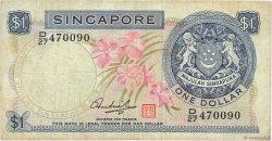 1 Dollar SINGAPOUR  1972 P.01d B