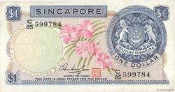 1 Dollar SINGAPOUR  1972 P.01d TB