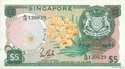 5 Dollars SINGAPOUR  1967 P.02a TTB