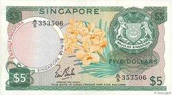 5 Dollars SINGAPOUR  1967 P.02a TTB+