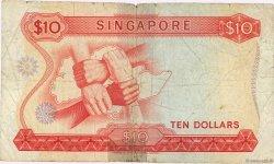10 Dollars SINGAPOUR  1970 P.03b pr.B
