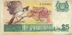 5 Dollars SINGAPOUR  1976 P.10 B à TB