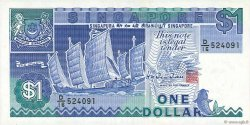 1 Dollar SINGAPOUR  1987 P.18b TTB
