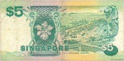5 Dollars SINGAPOUR  1989 P.19 TB