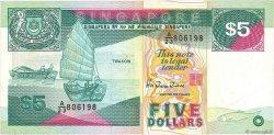 5 Dollars SINGAPOUR  1989 P.19 TTB