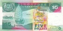 5 Dollars SINGAPOUR  1989 P.19 SUP