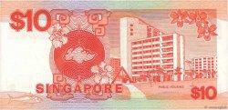 10 Dollars SINGAPOUR  1988 P.20 TTB+