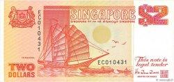 2 Dollars SINGAPOUR  1990 P.27 TTB
