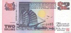 2 Dollars SINGAPOUR  1992 P.28 SUP