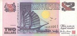 2 Dollars SINGAPOUR  1997 P.34 TTB
