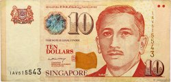 10 Dollars SINGAPOUR  1999 P.40 TB
