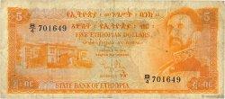 5 Dollars ÉTHIOPIE  1961 P.19a B+