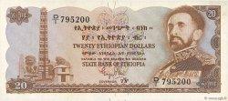 20 Dollars ÉTHIOPIE  1961 P.21a TTB+